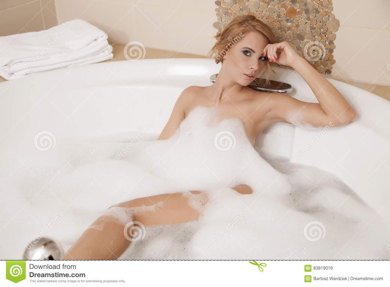 blonde in bathtub