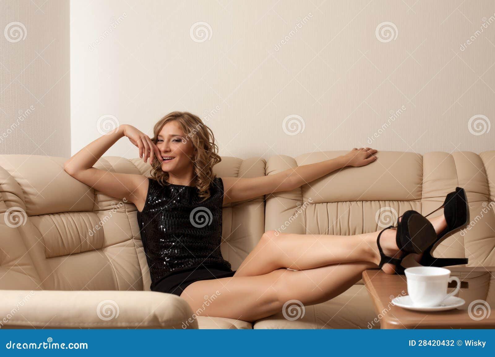 Blonde long legs trinity tight pussy fucked