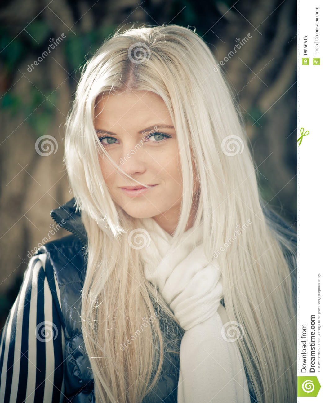 Blonde Woman with Shawl