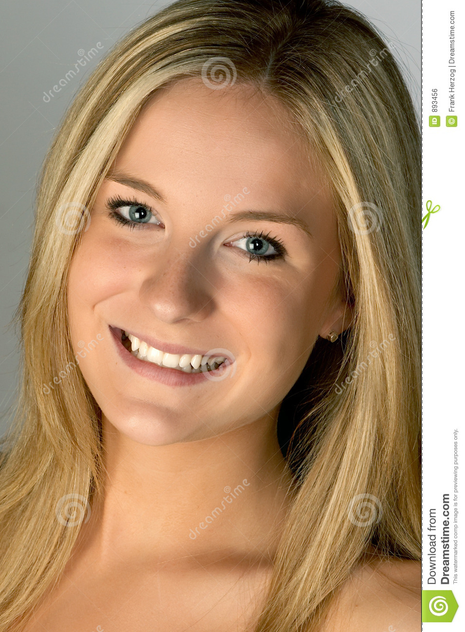 Blonde Woman Smiling Headshot