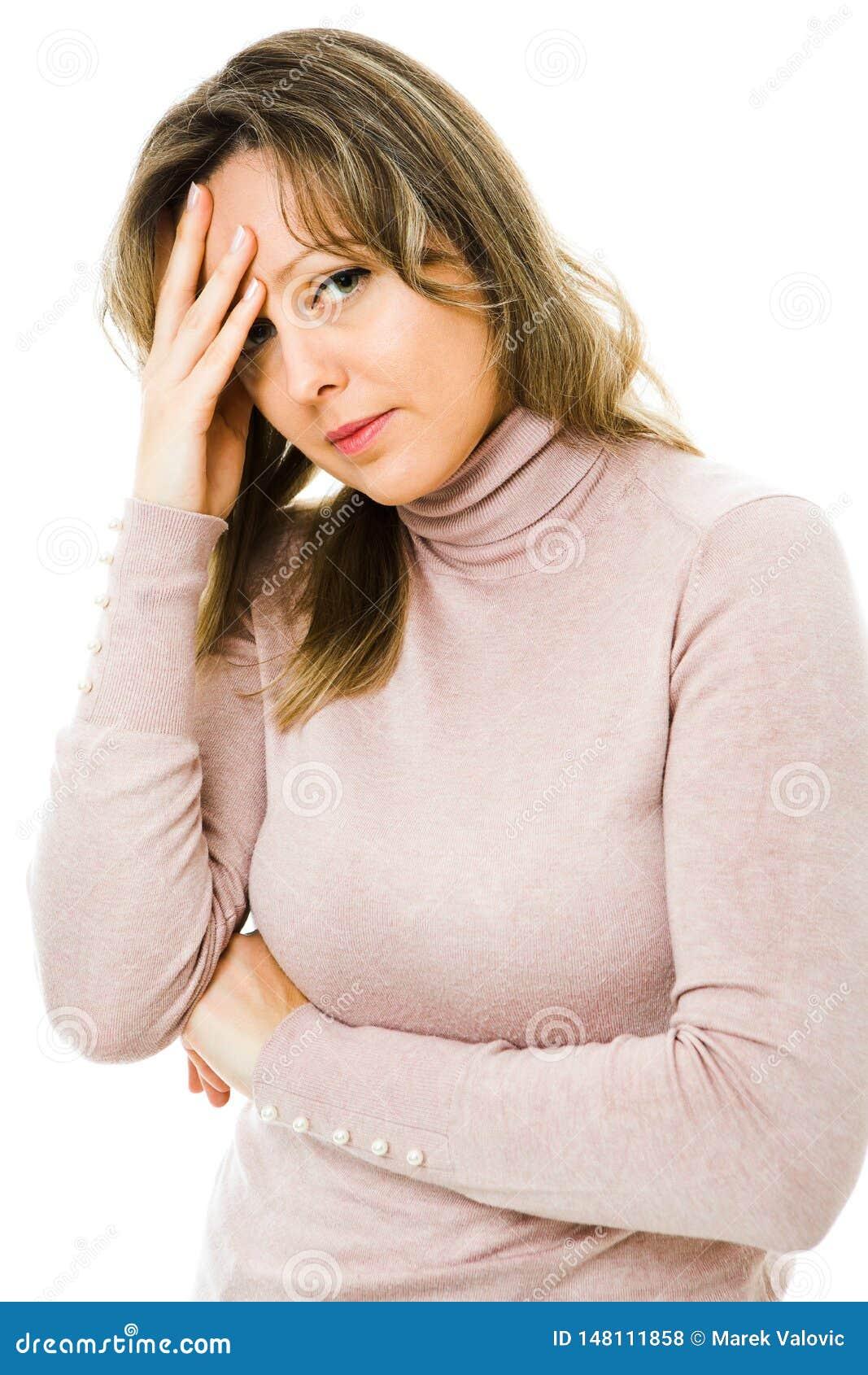 Blondineleidenkopfschmerzen - überbelastend