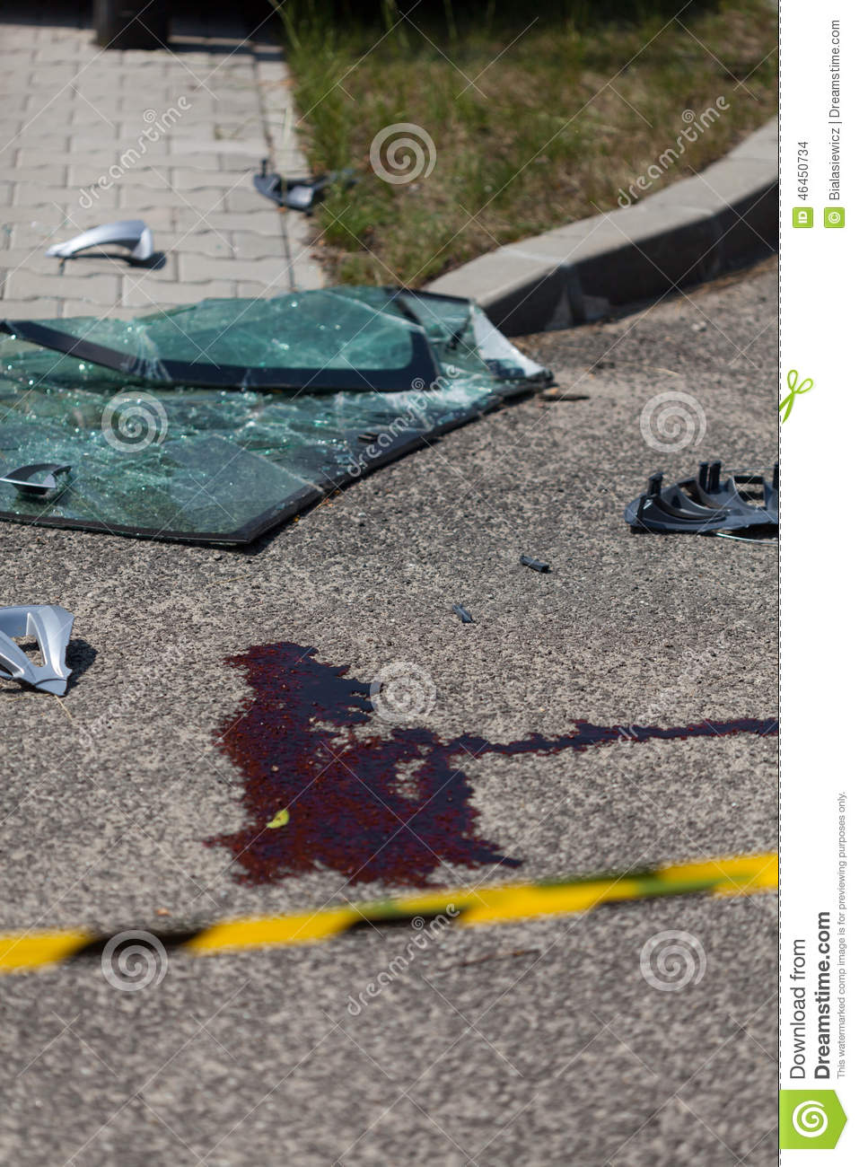 Blood And Car Parts Stock Photo Image Of Vehicle Windscreen 46450734