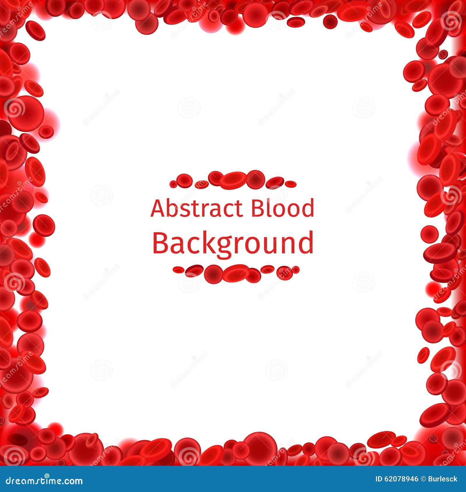 Blood Cells Frame For Medical Poster Stock Vector - Illustration of ...