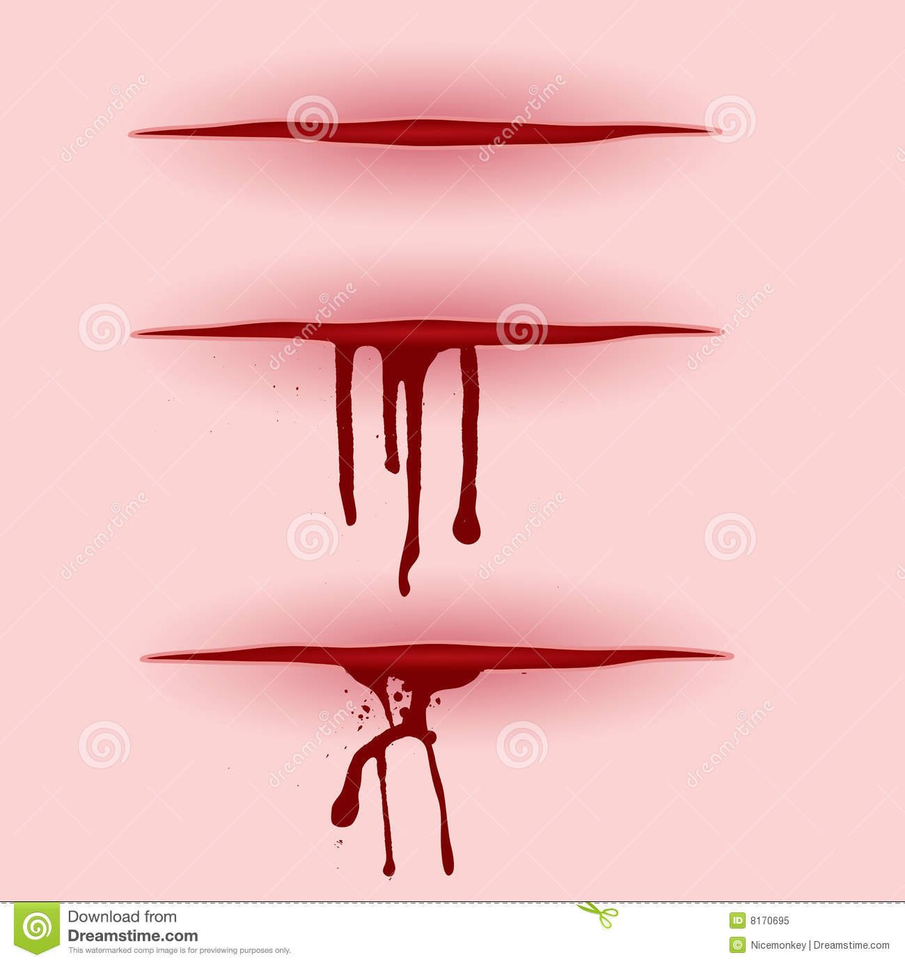Blood cut stock vector  Illustration of infection, blood
