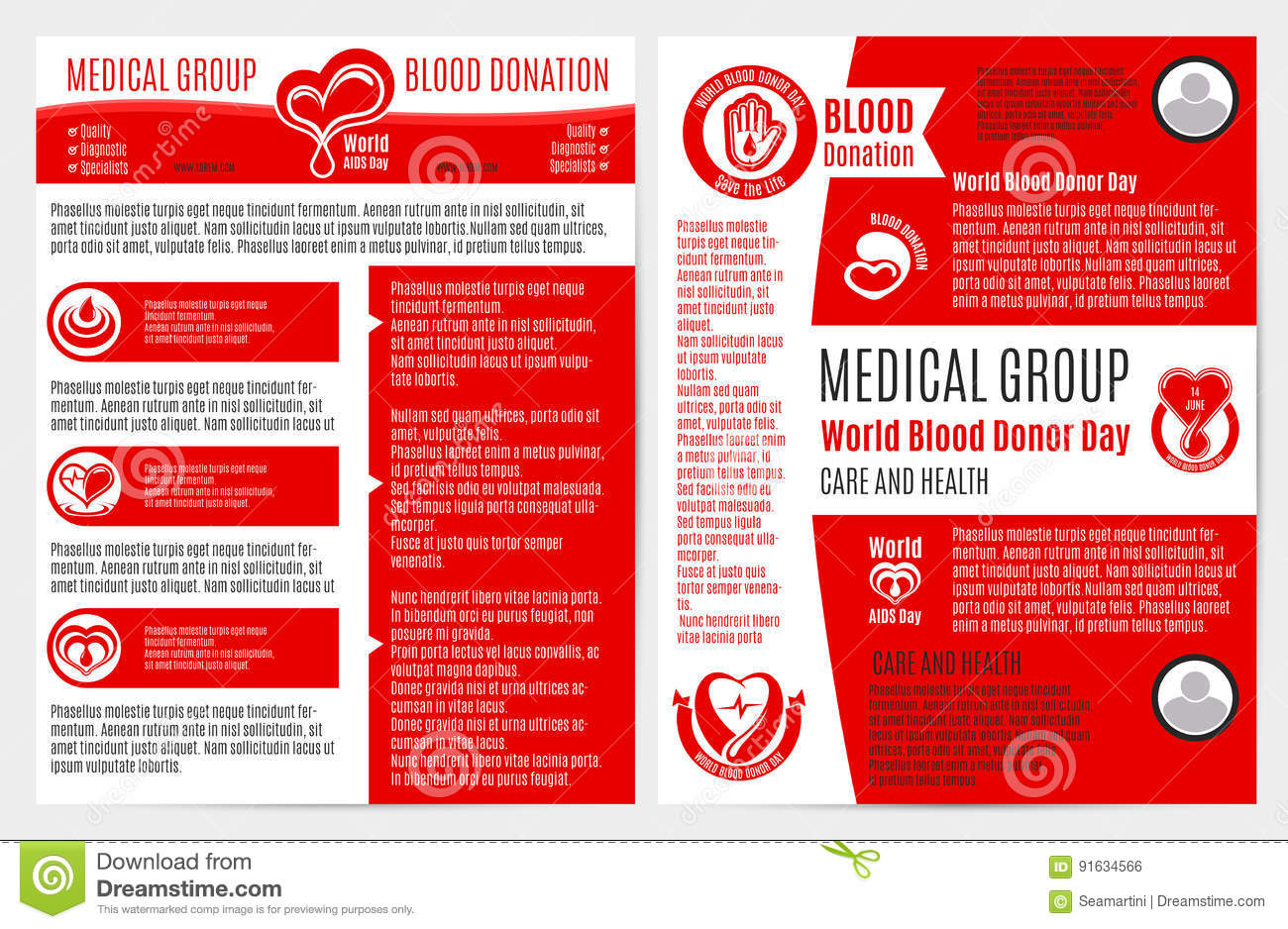 Blood donation medical brochure poster template stock for Informative poster template