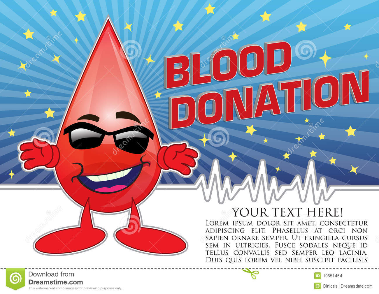 Poster design on blood donation - Blood Concept Donation