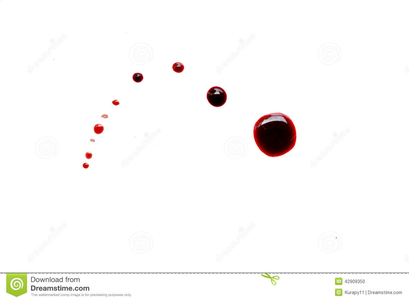 blood drip stock photo image 42909350