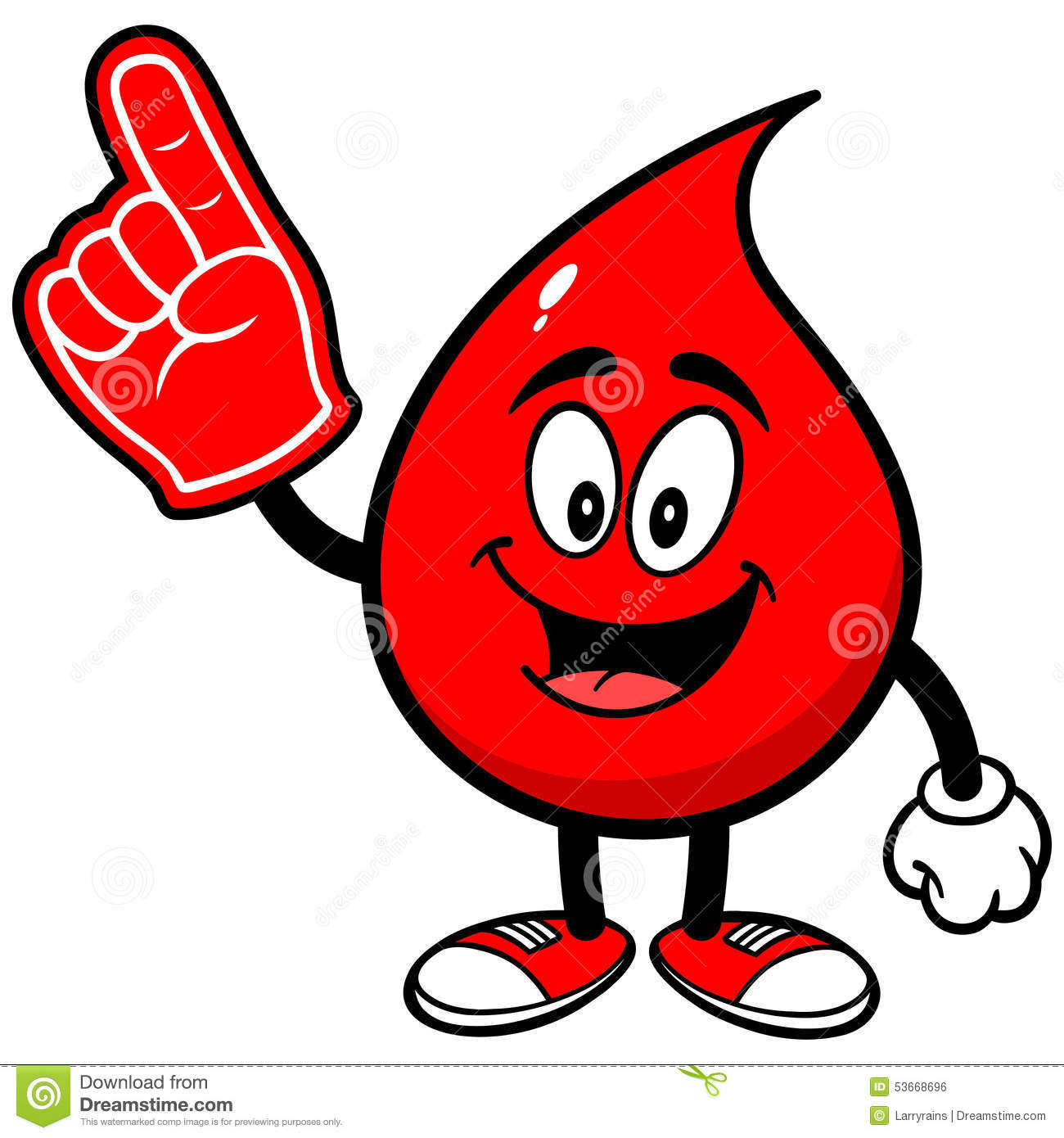 blood drop with foam finger stock vector illustration of blood  spectator 53668696 Cheer Megaphone Clip Art funny cheer up clipart