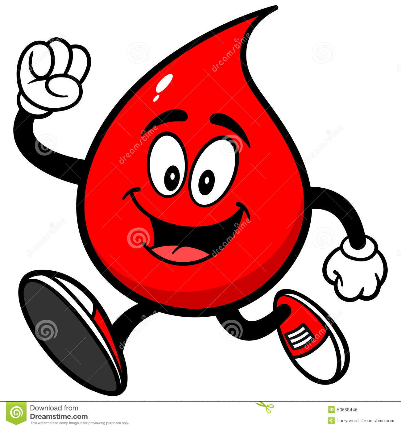 Blood Drop Running Stock Vector - Image: 53668446