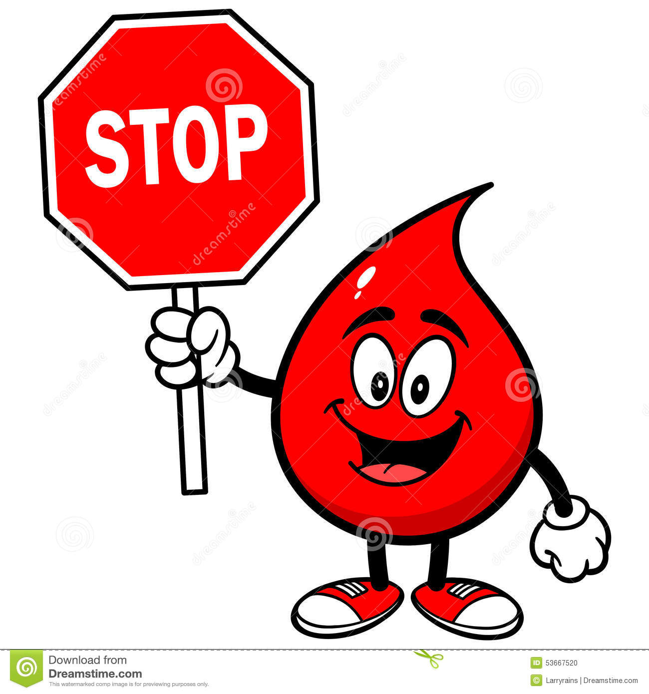Blood Drop With Stop Sign Stock Vector - Image: 53667520