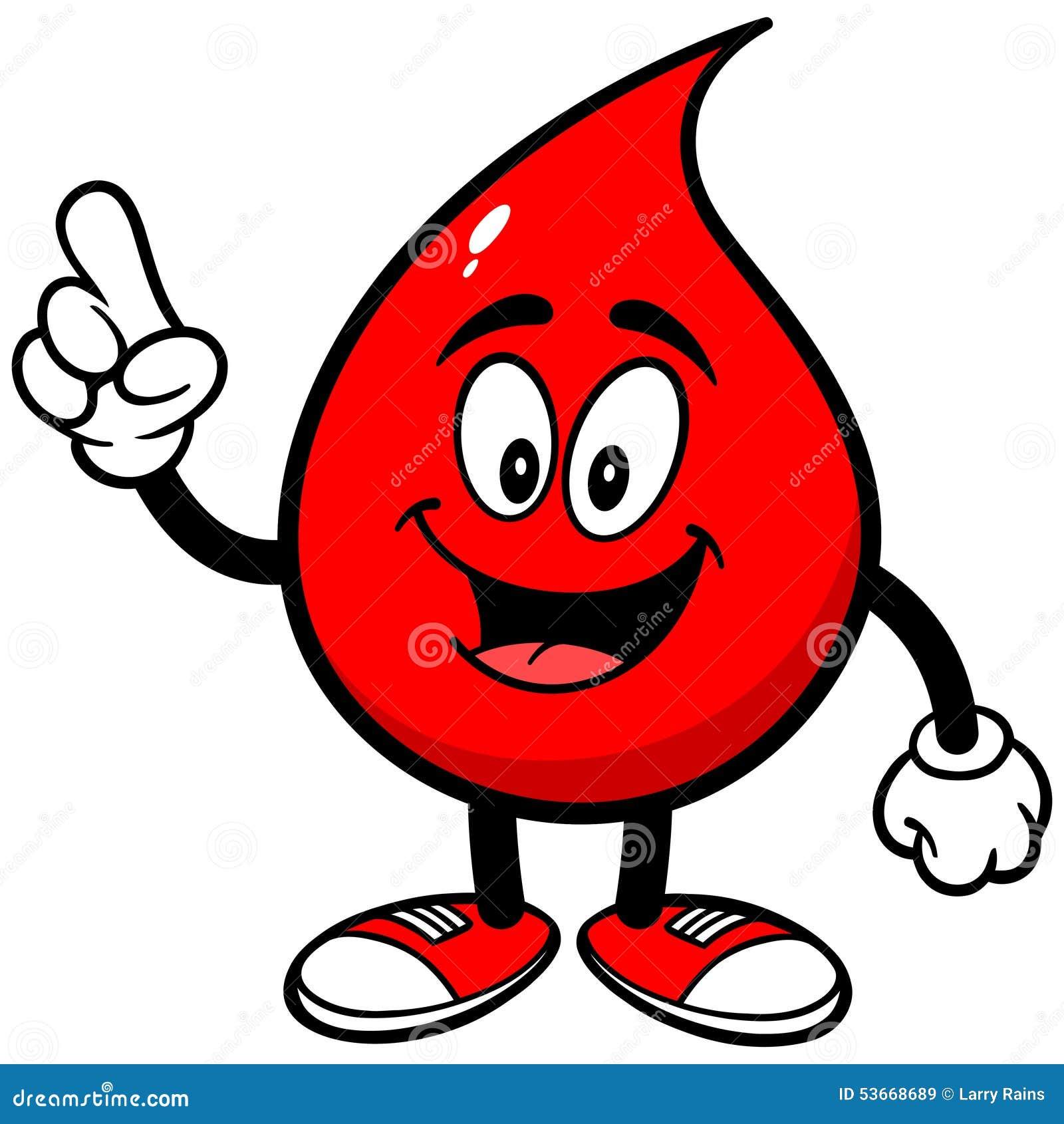 Blood Drop Talking Stock Vector - Image: 53668689