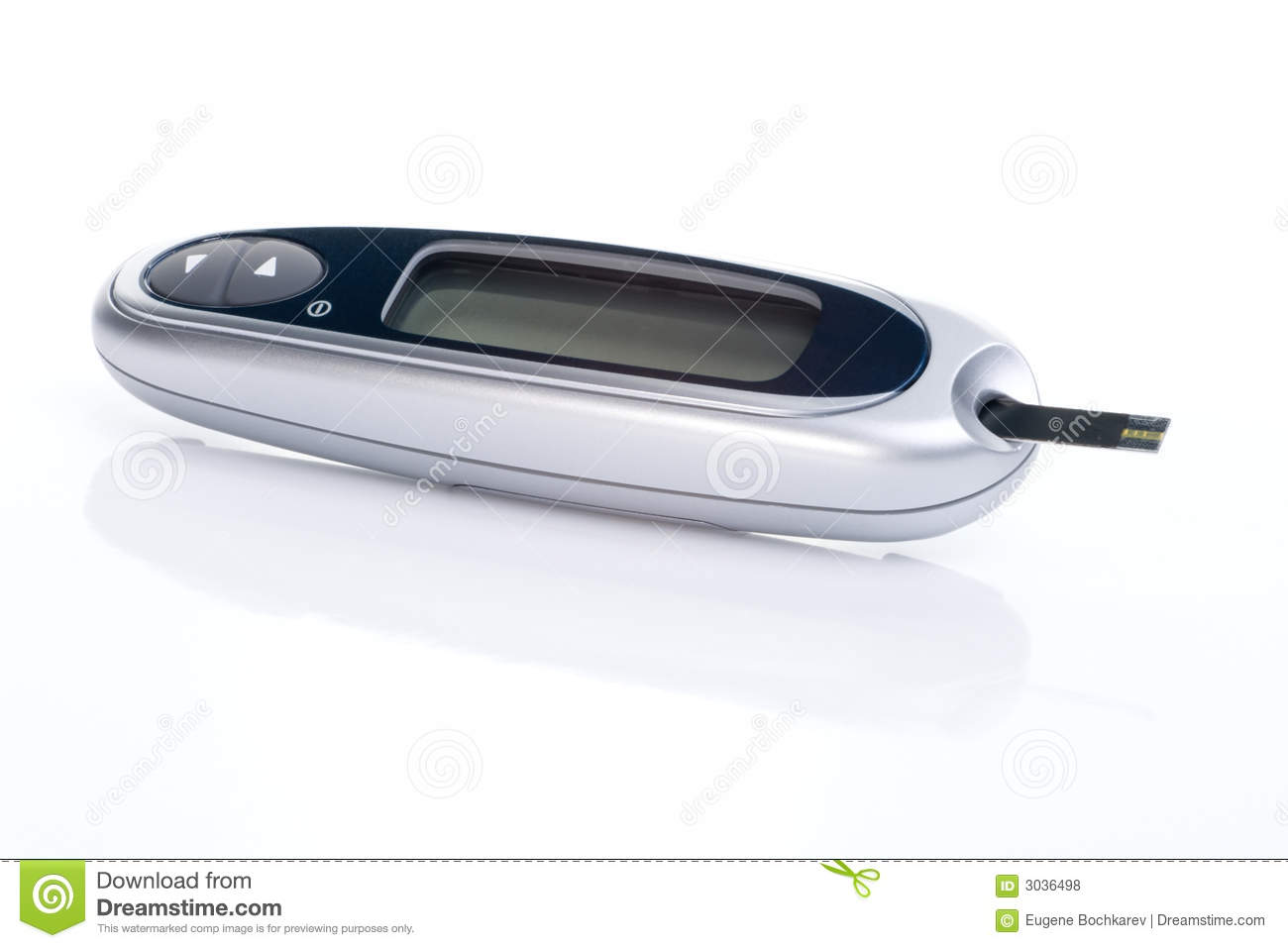 Meter for self checking blood glucose level for diabetics.
