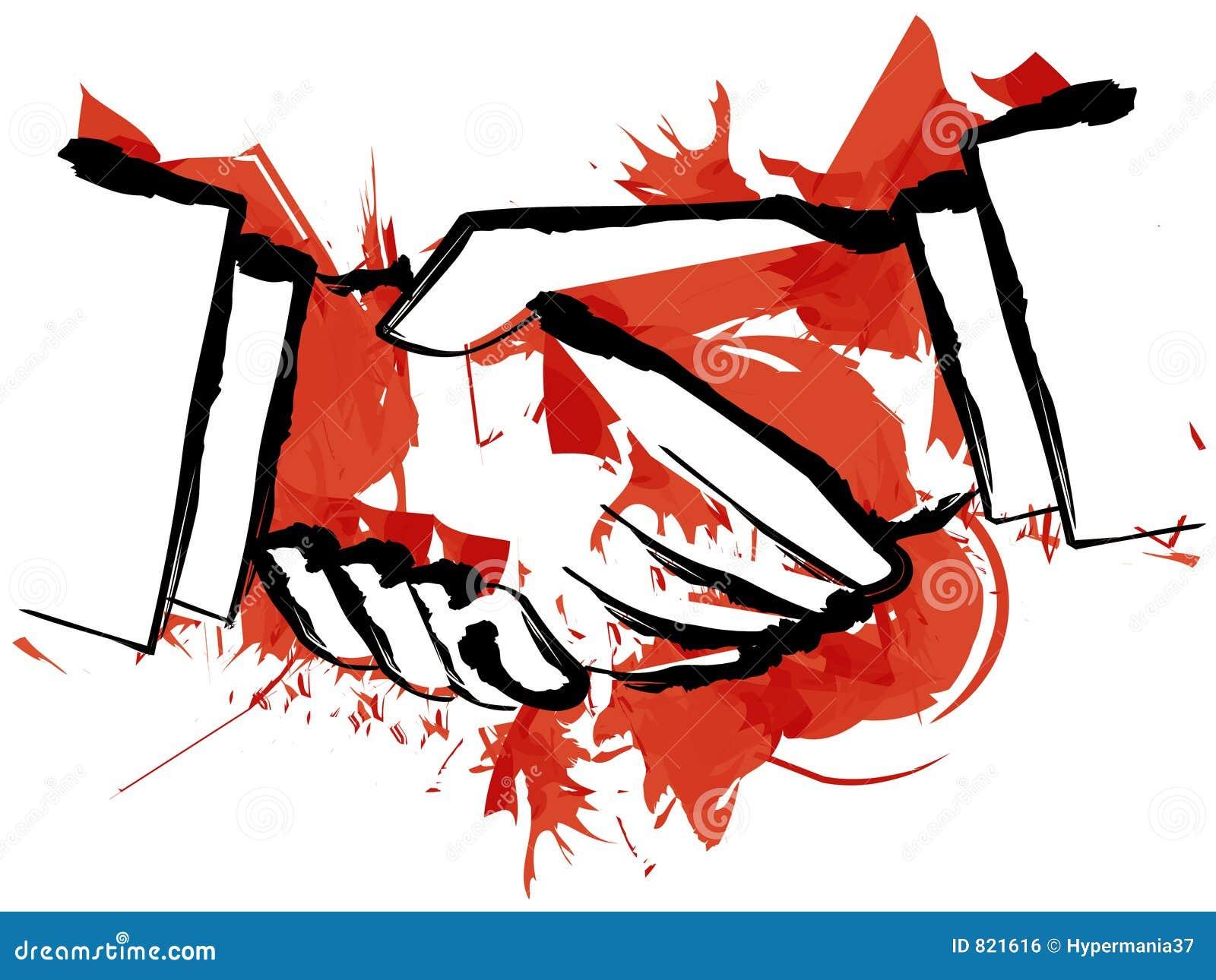 Blood Hand Shake Royalty Free Stock Image - Image: 821616