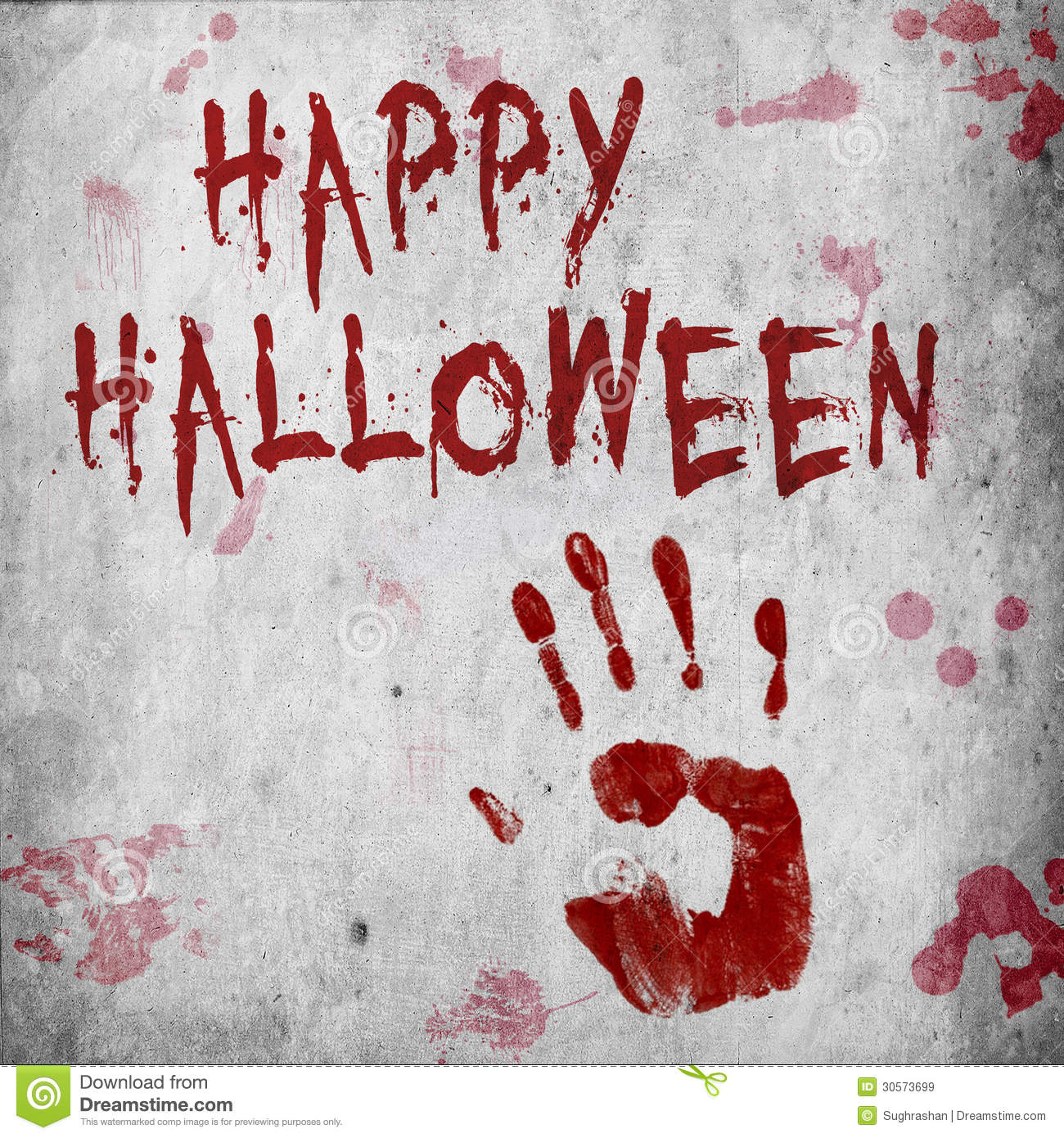 Home Decorating Blogs Blood Handprint Halloween Royalty Free Stock Images