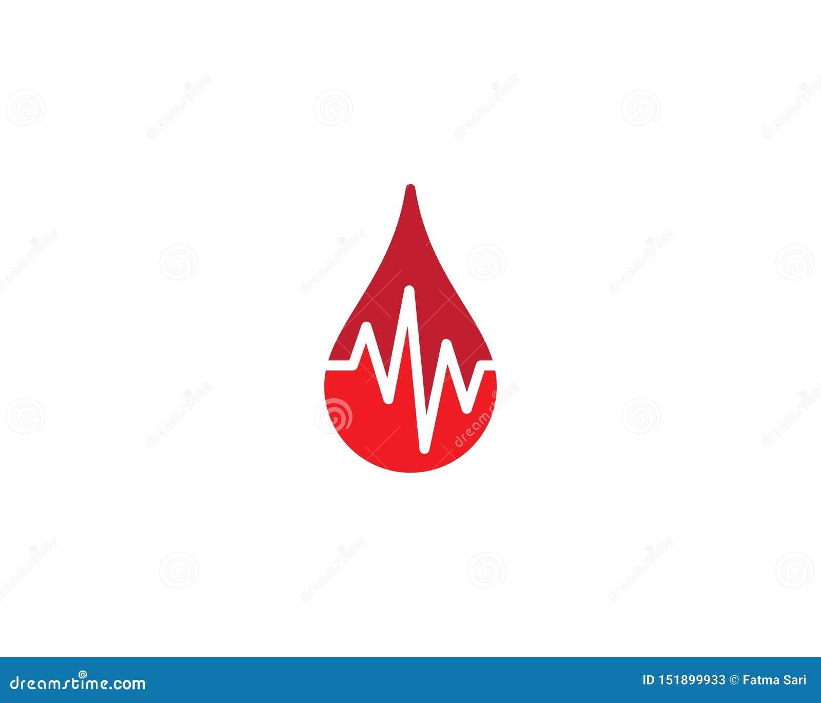 Blood logo template
