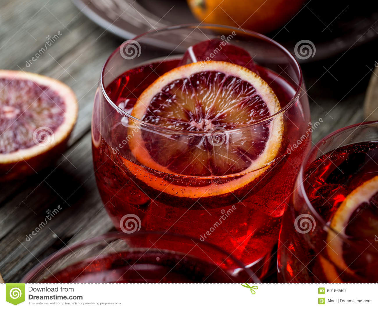 Blood Orange And Pomegranate Cocktails Stock Photo - Image: 69166559