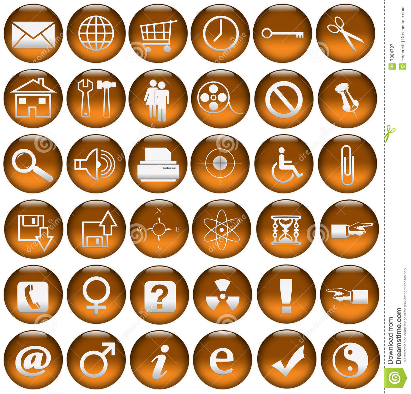 Blood Orange Web Icons/Buttons Royalty Free Stock Photography ...