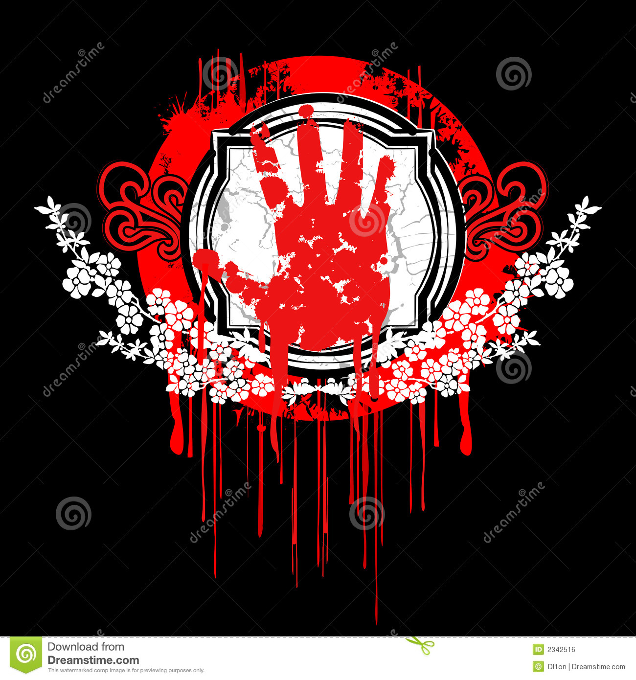 Blood Palm Hand Symbol Stock Vector Illustration Of Computer 2342516