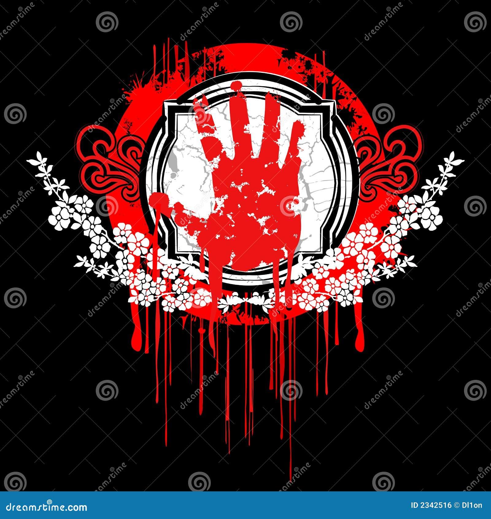 Blood Palm Hand Symbol. Royalty Free Stock Image - Image ...