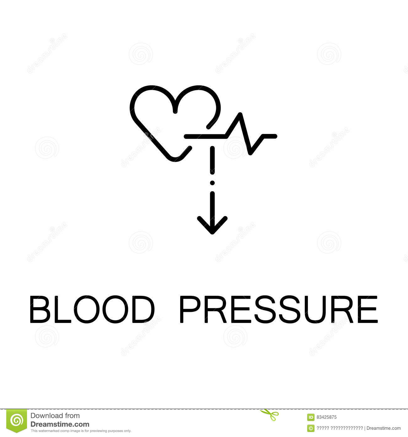 Blood Pressure Icon Stock Vector Illustration Of Instrument 83425875
