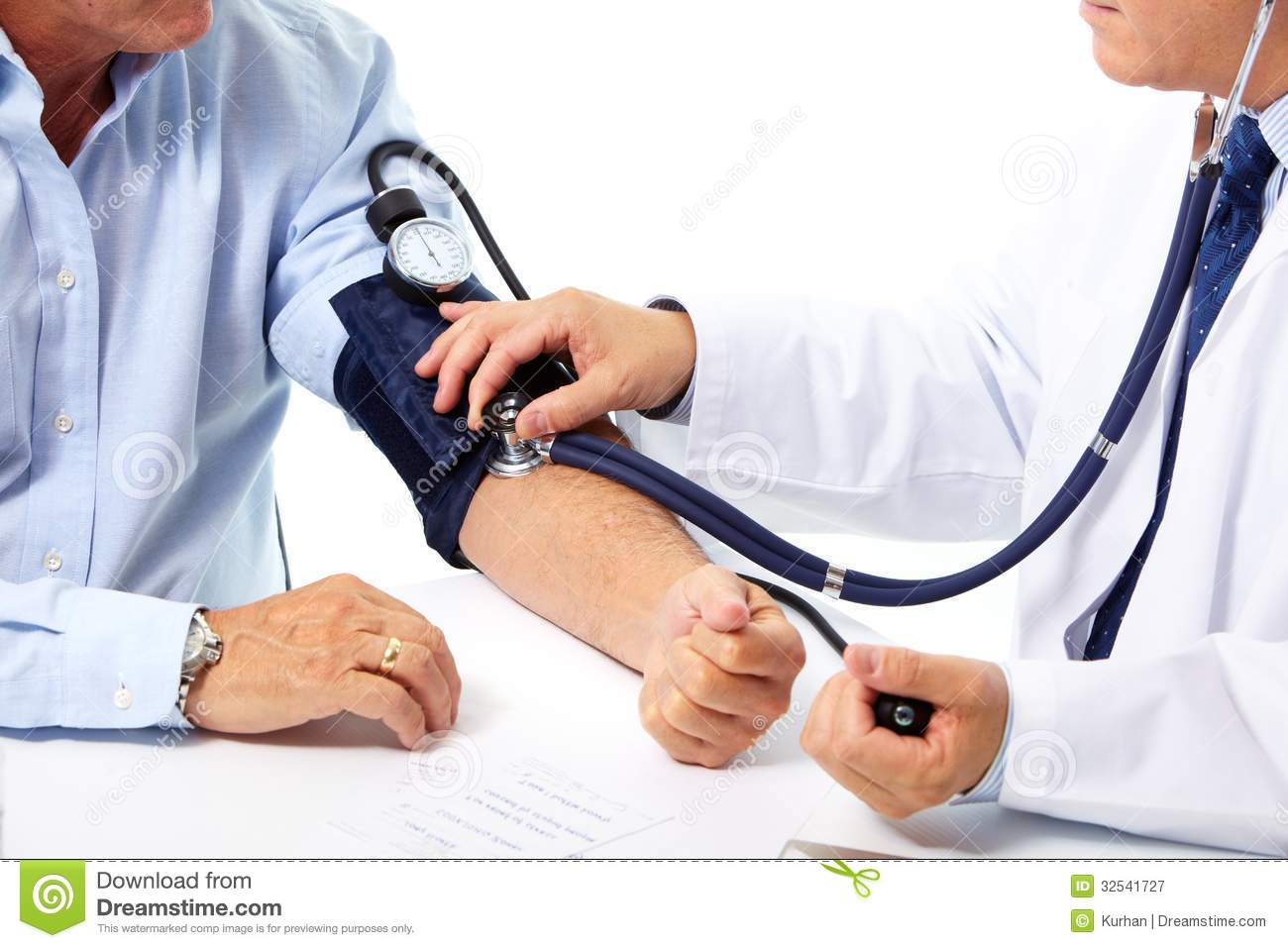 Blood Pressure Measuring. Doctor And Patient. Royalty Free Stock ...