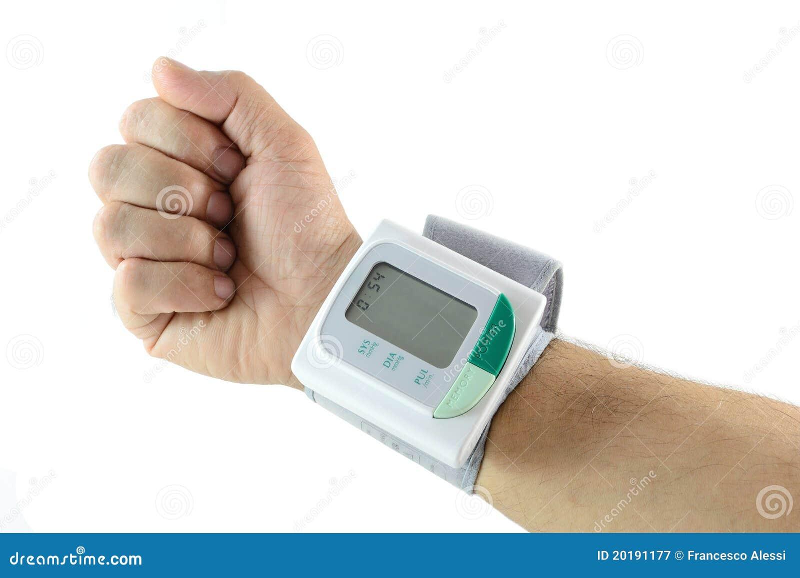 Blood pressure meter on wrist