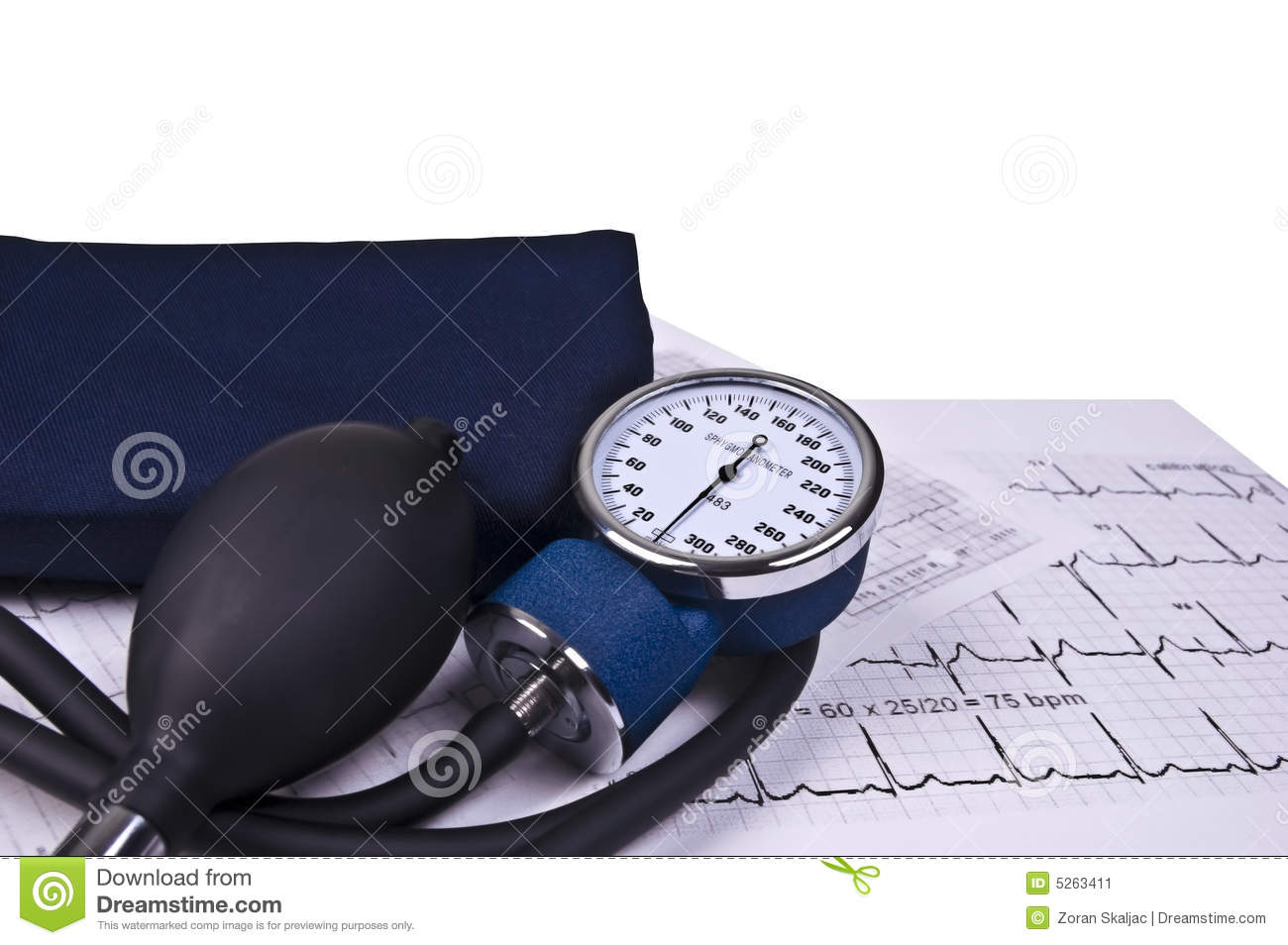 Blood pressure monitoring and EKG reading