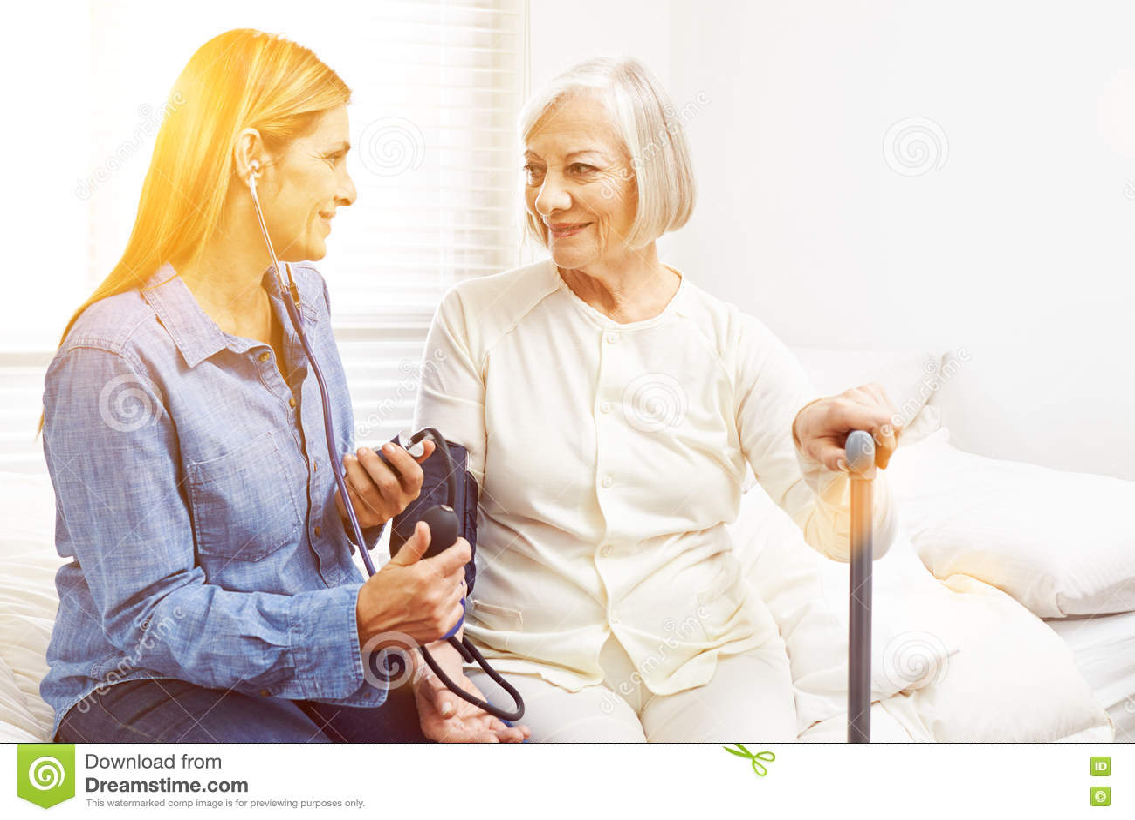 Blood pressure monitoring in nursing home