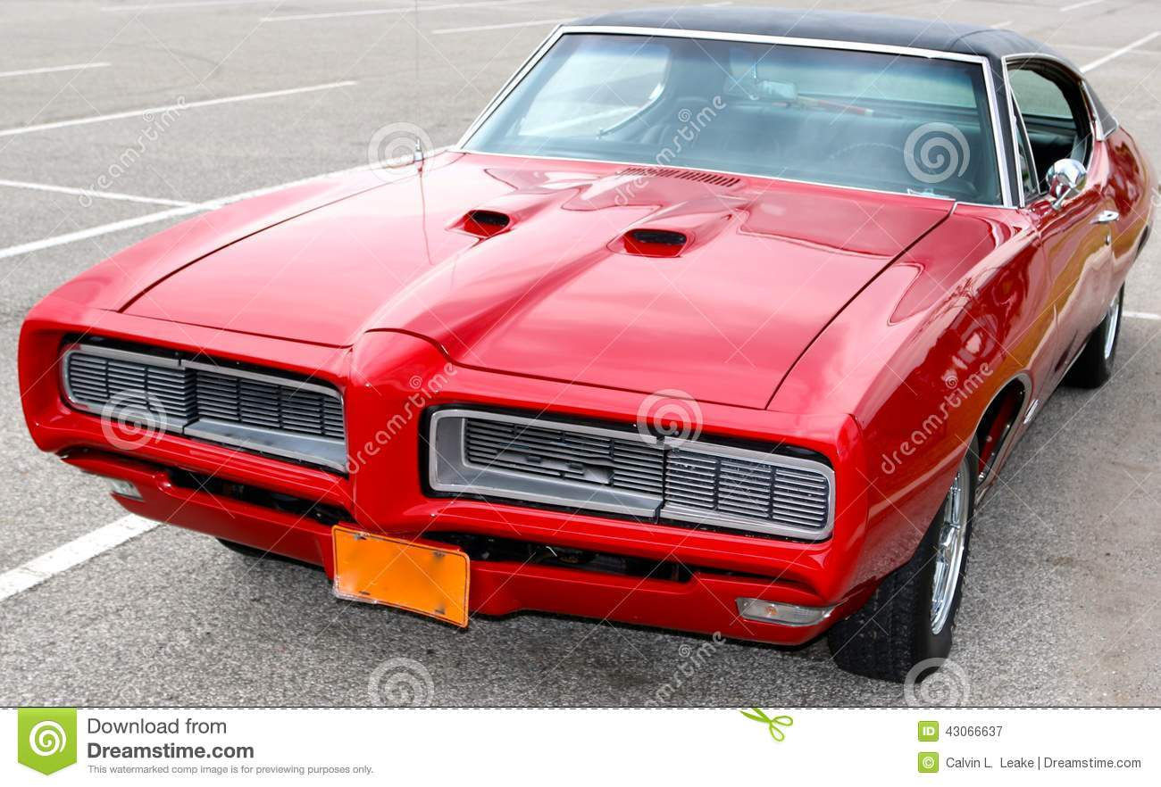1969 Blood Red Classic Pontiac GTO Editorial Photography - Image of ...