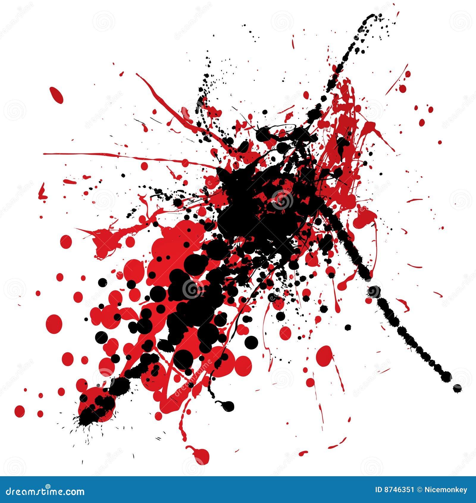 Как белым на красном сделать чёрное пятно 156