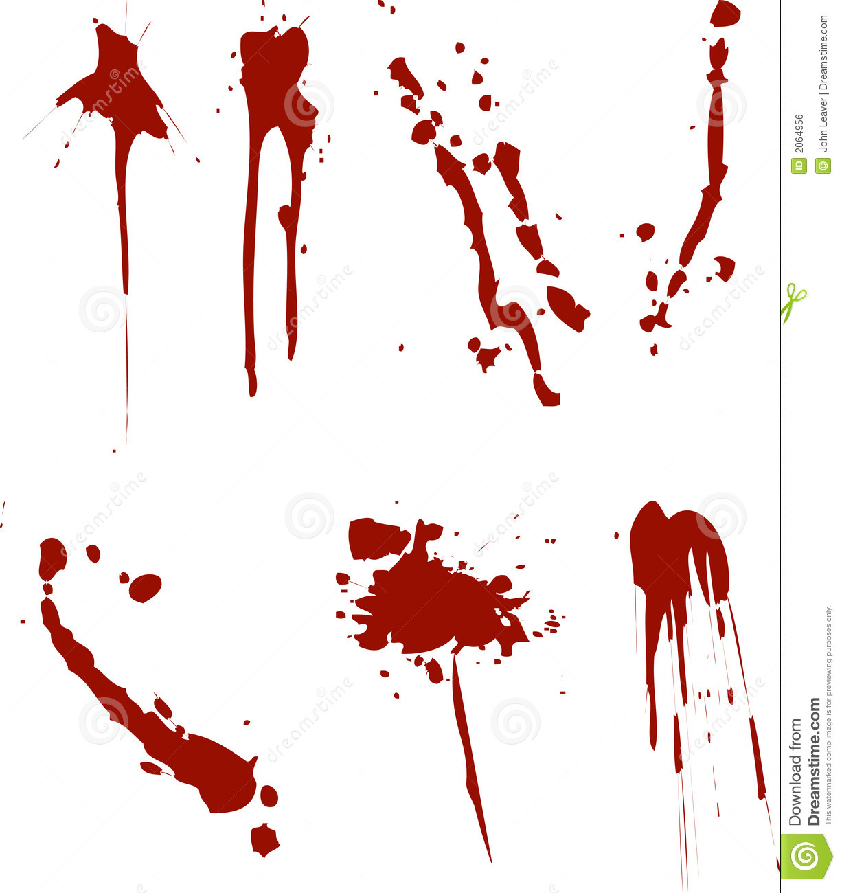 Blood drops Clipart Vector and Illustration 13869 Blood