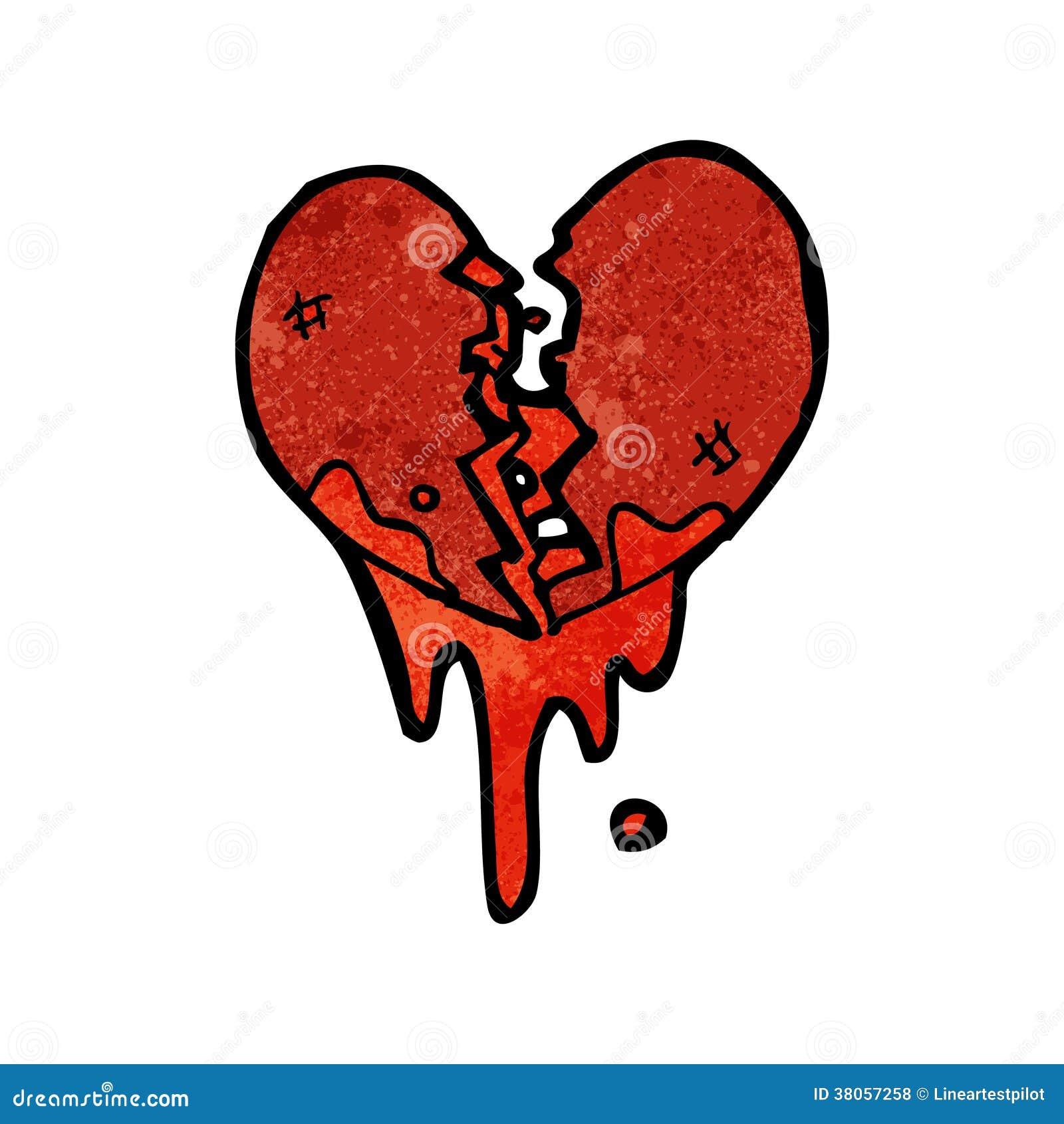Blood Splattered Heart Cartoon Stock Vector Illustration Of