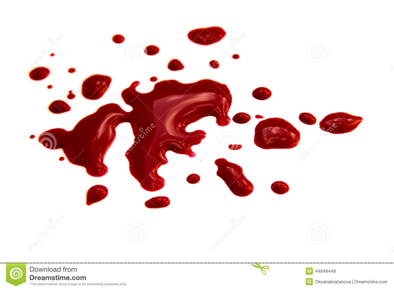Blood Stains Stock Photo Image 44848449