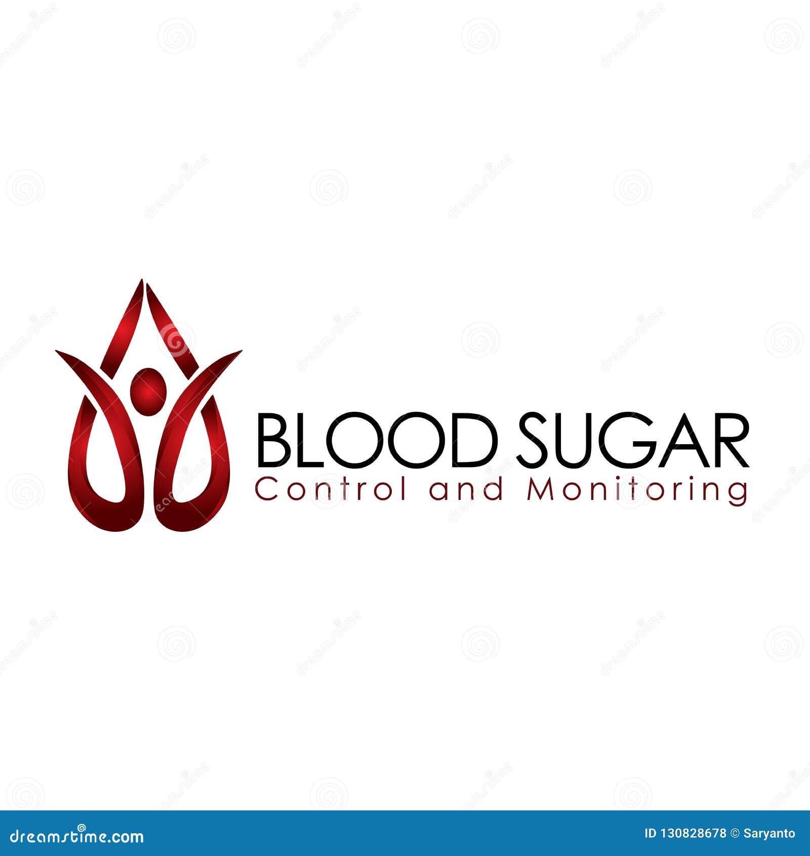 Blood sugar control and monitoring vector illustration