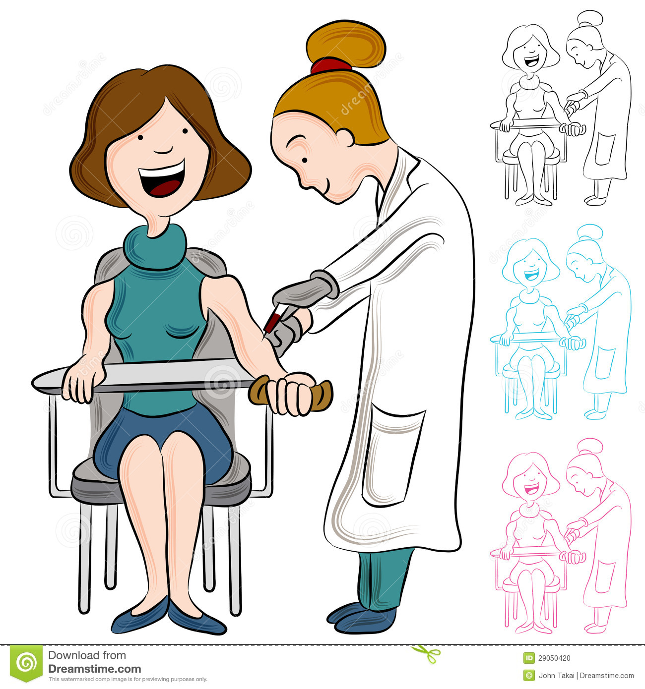 Blood Test Woman Stock Vector Illustration Of Test Drawing 29050420