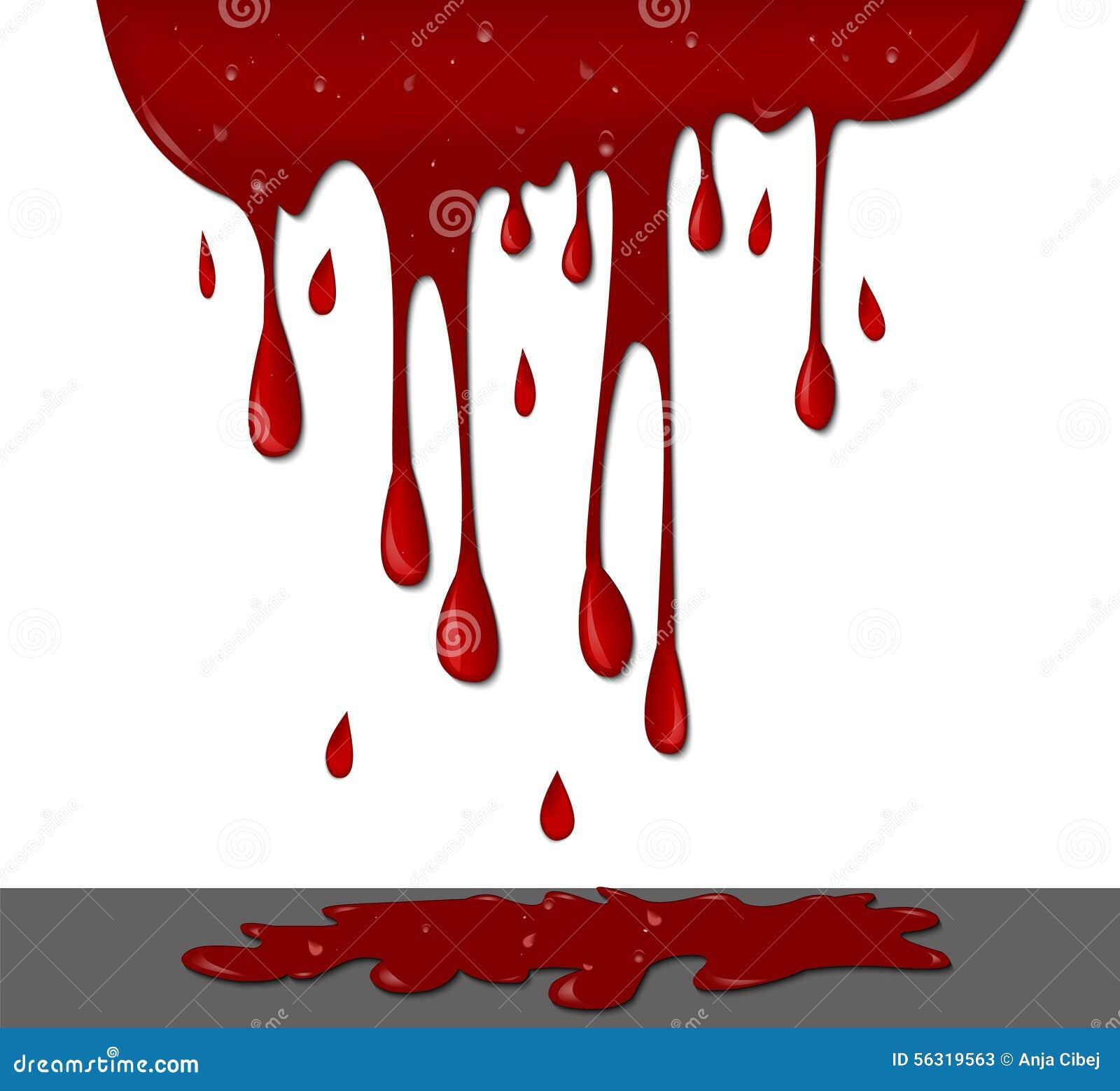 Blood On Wall Stock Illustration Image 56319563