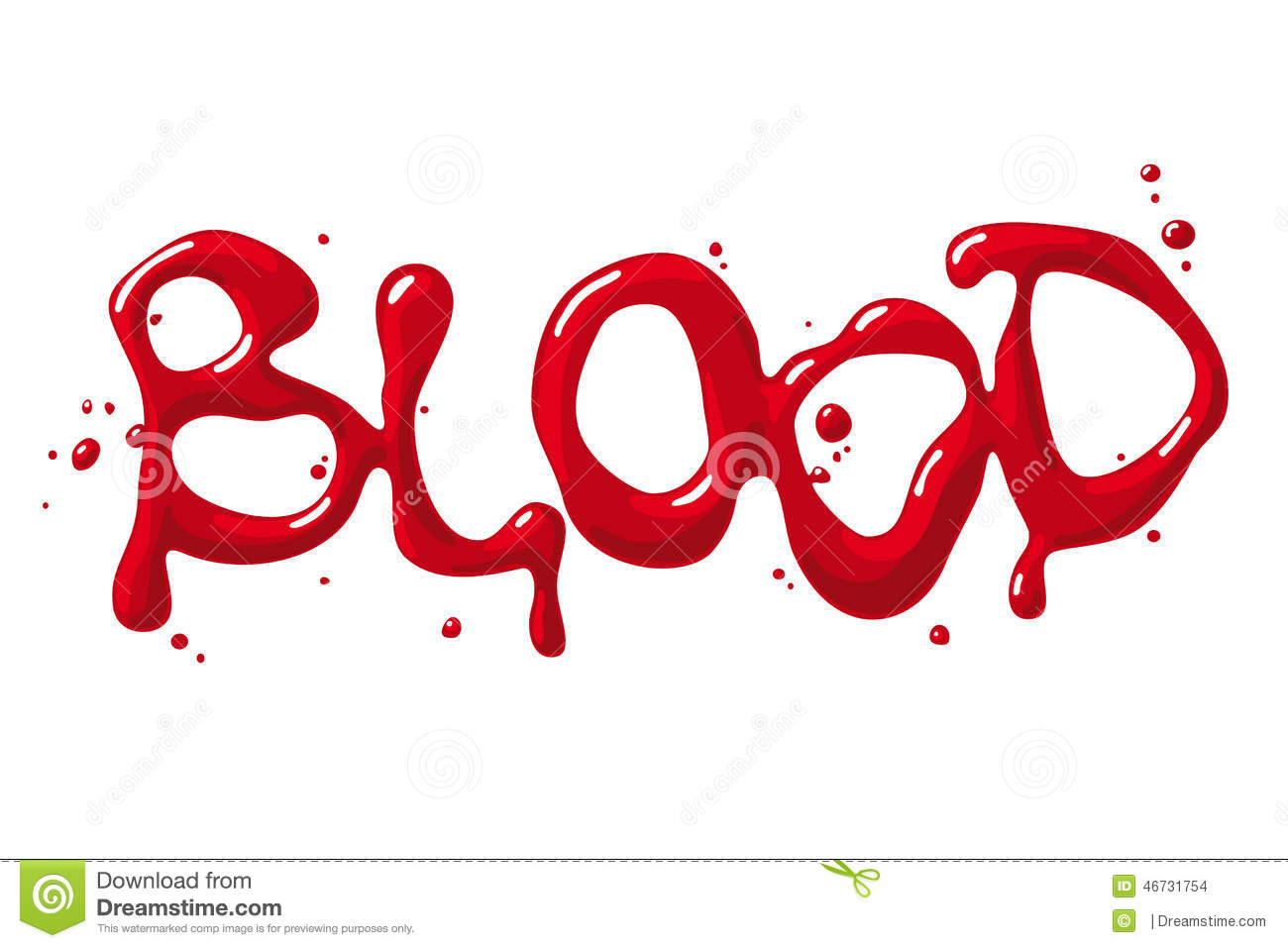 blood word stock vector illustration of text  image Zombie Silhouette Clip Art Halloween Clip Art