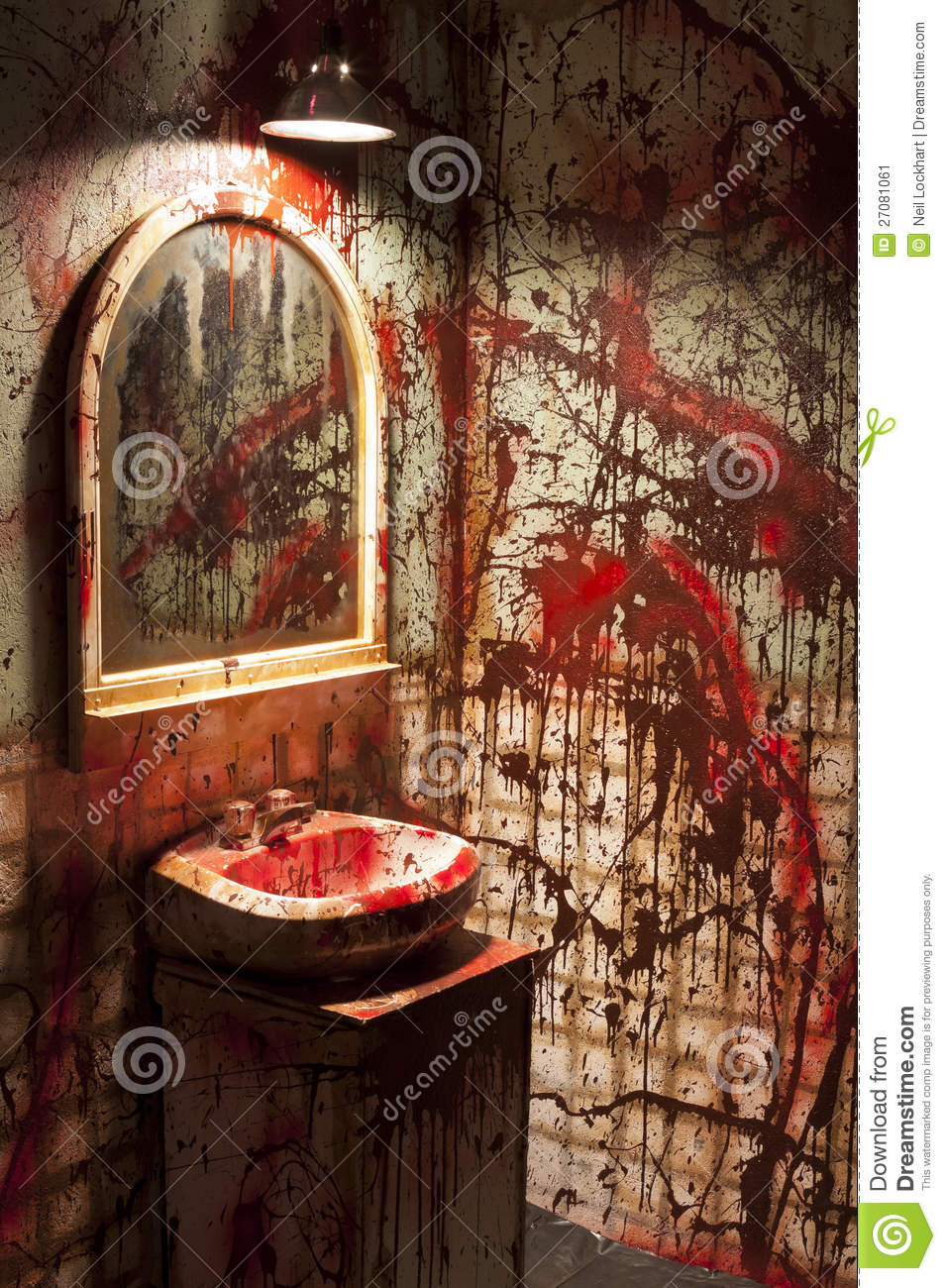 Bloody Bathroom Set Fake Stock Image Image Of Restroom