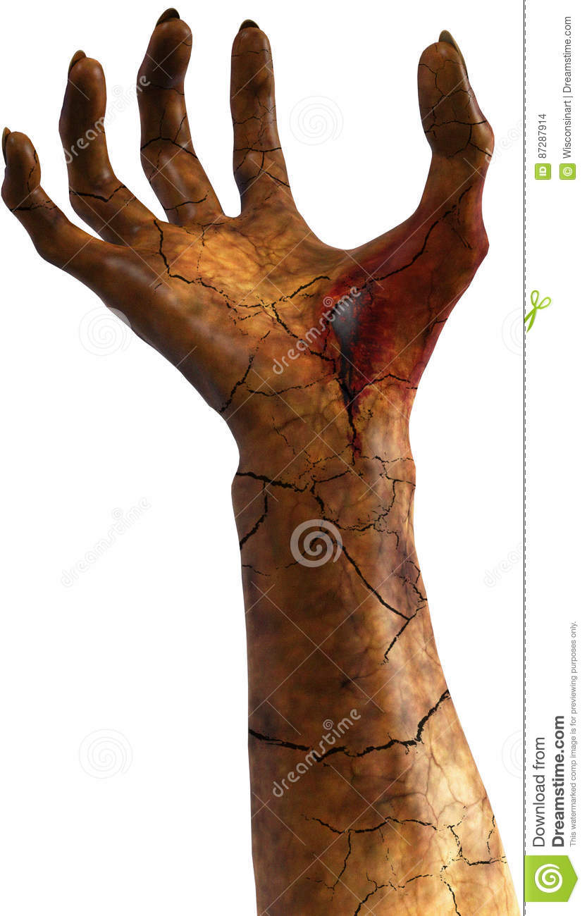 Bloody Evil Monster Hand Isolated Stock Photo - Image of