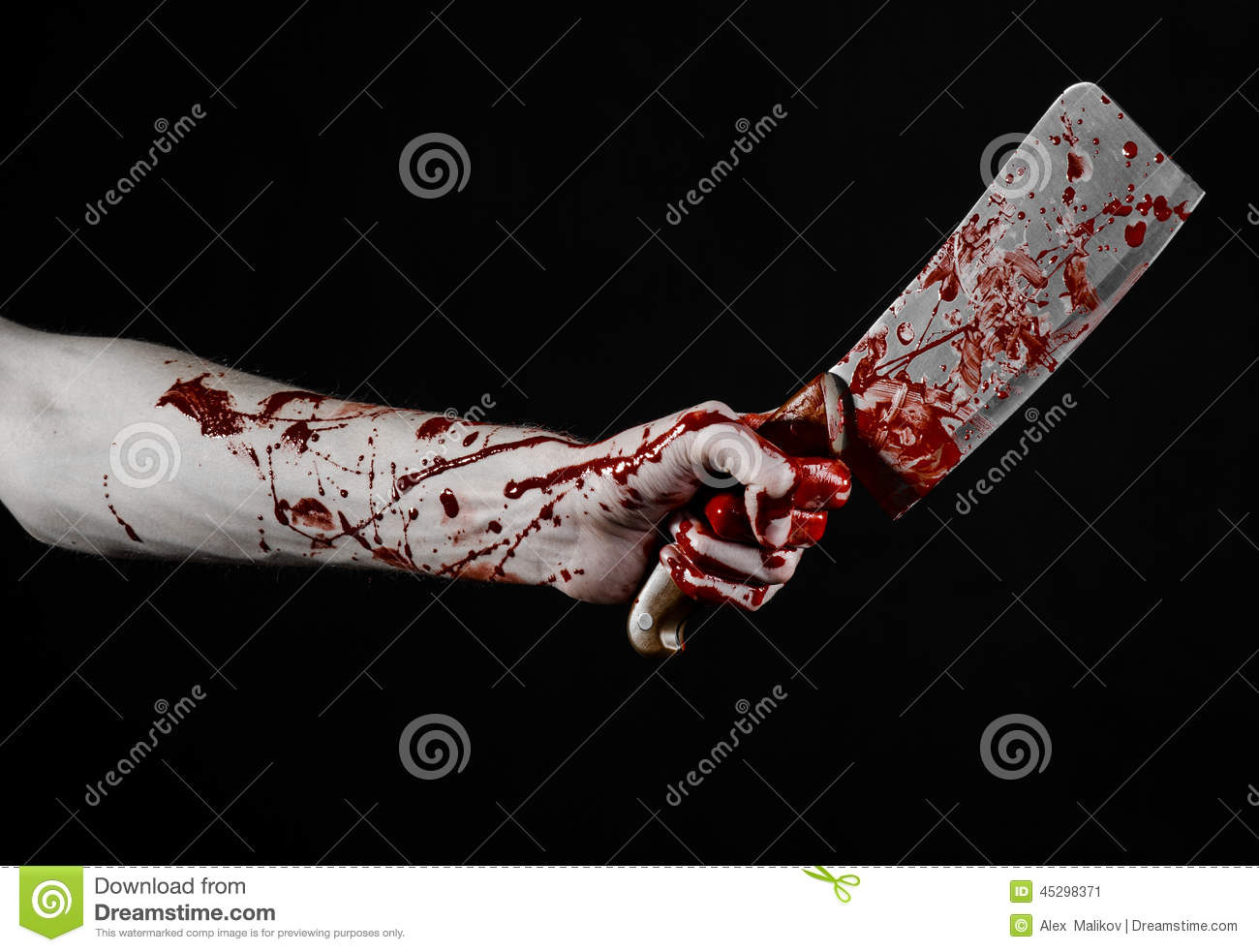 ... bloody hand...
