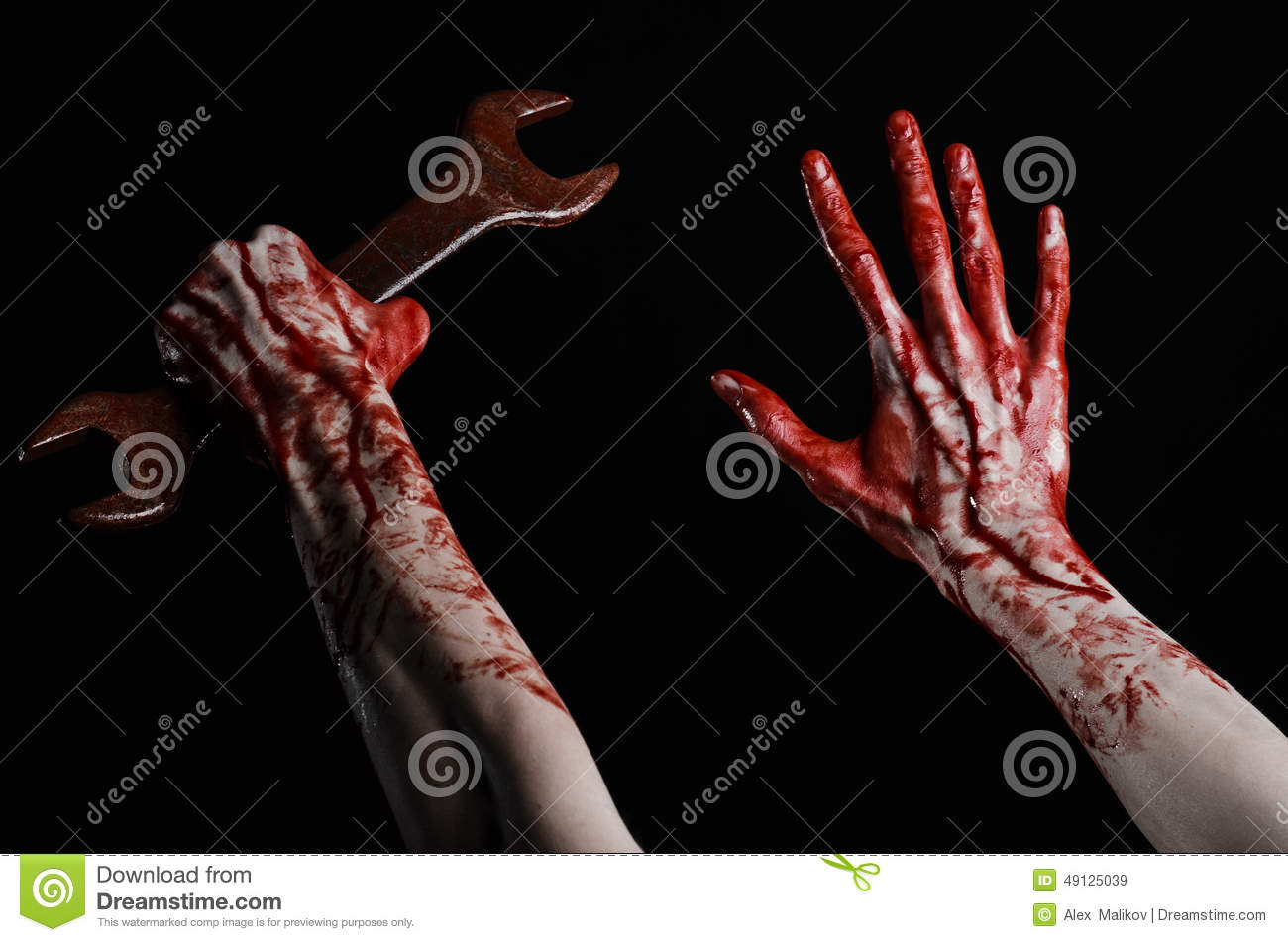 bloody hand holding - photo #10