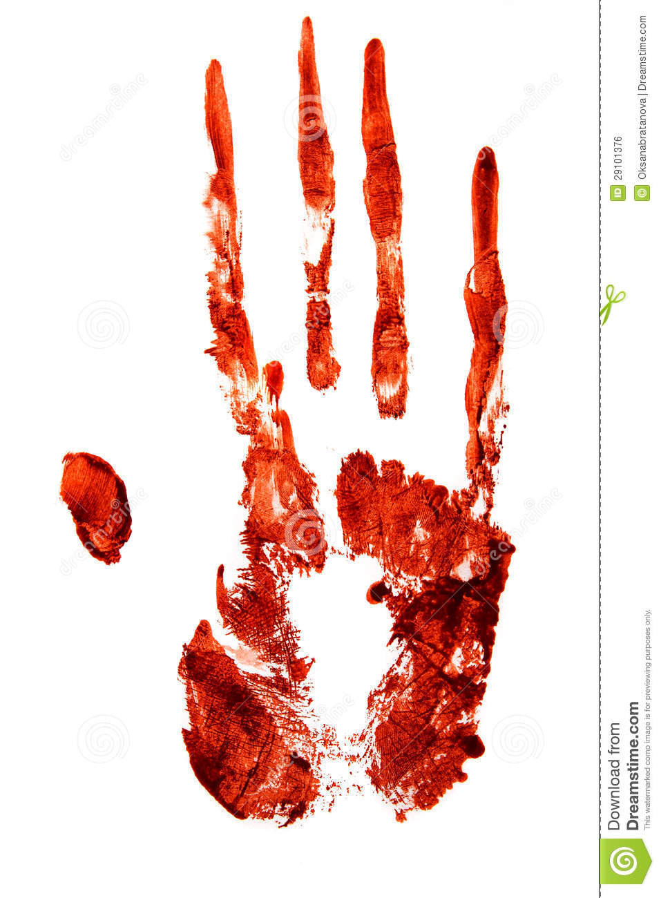 Bloody Hand Print Stock Photo  Image Of Runs  Fingers