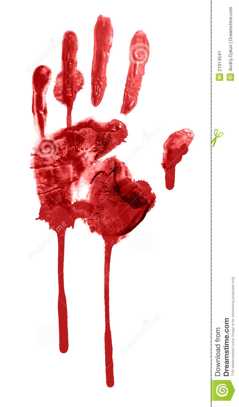 Bloody Handprint Stock Image - Image: 21914541