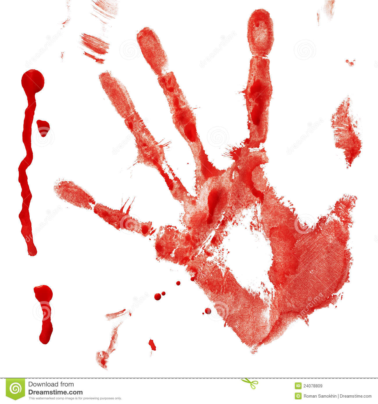 Black paint splatter wallpaper - Bloody Handprint With Drop Royalty Free Stock Images