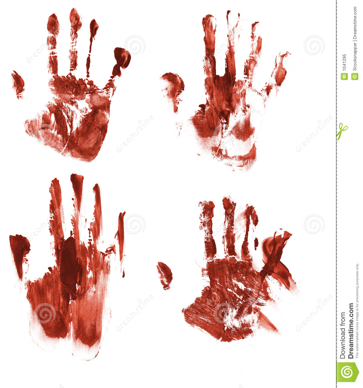 Bloody handprints stock illustration  Illustration of horror