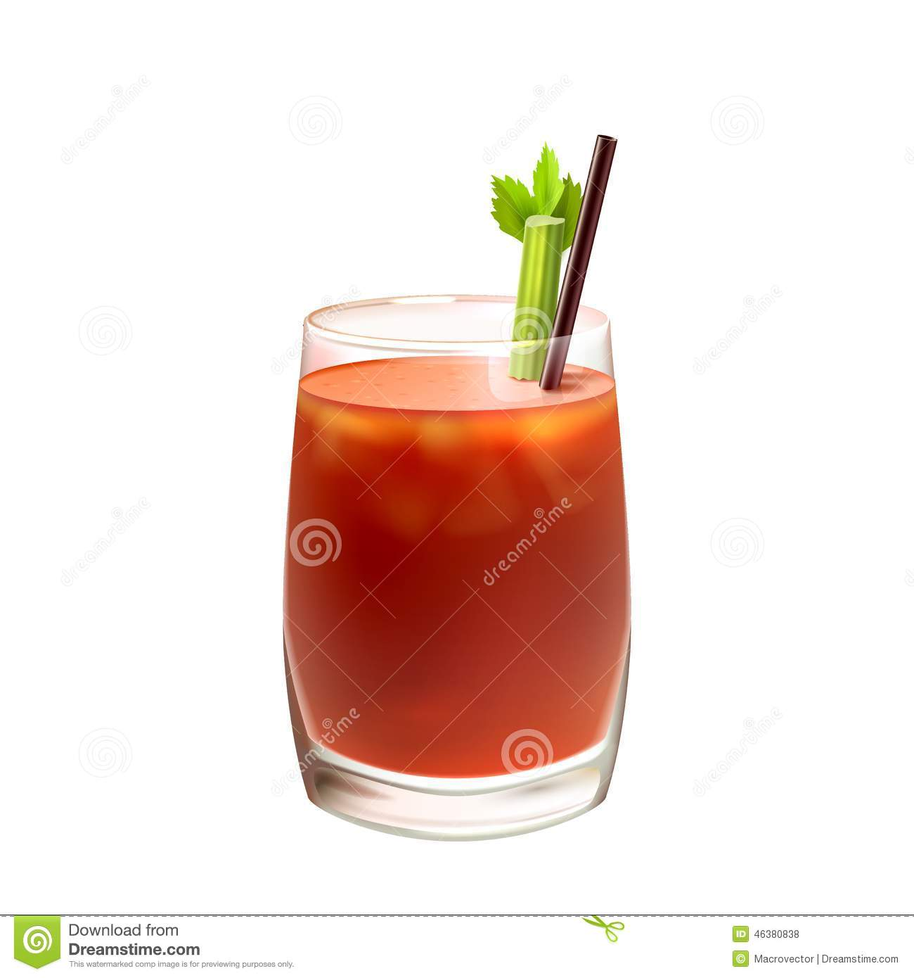 Bloody mary cocktail realistic stock vector image 46380838 - Cocktail bloody mary ...