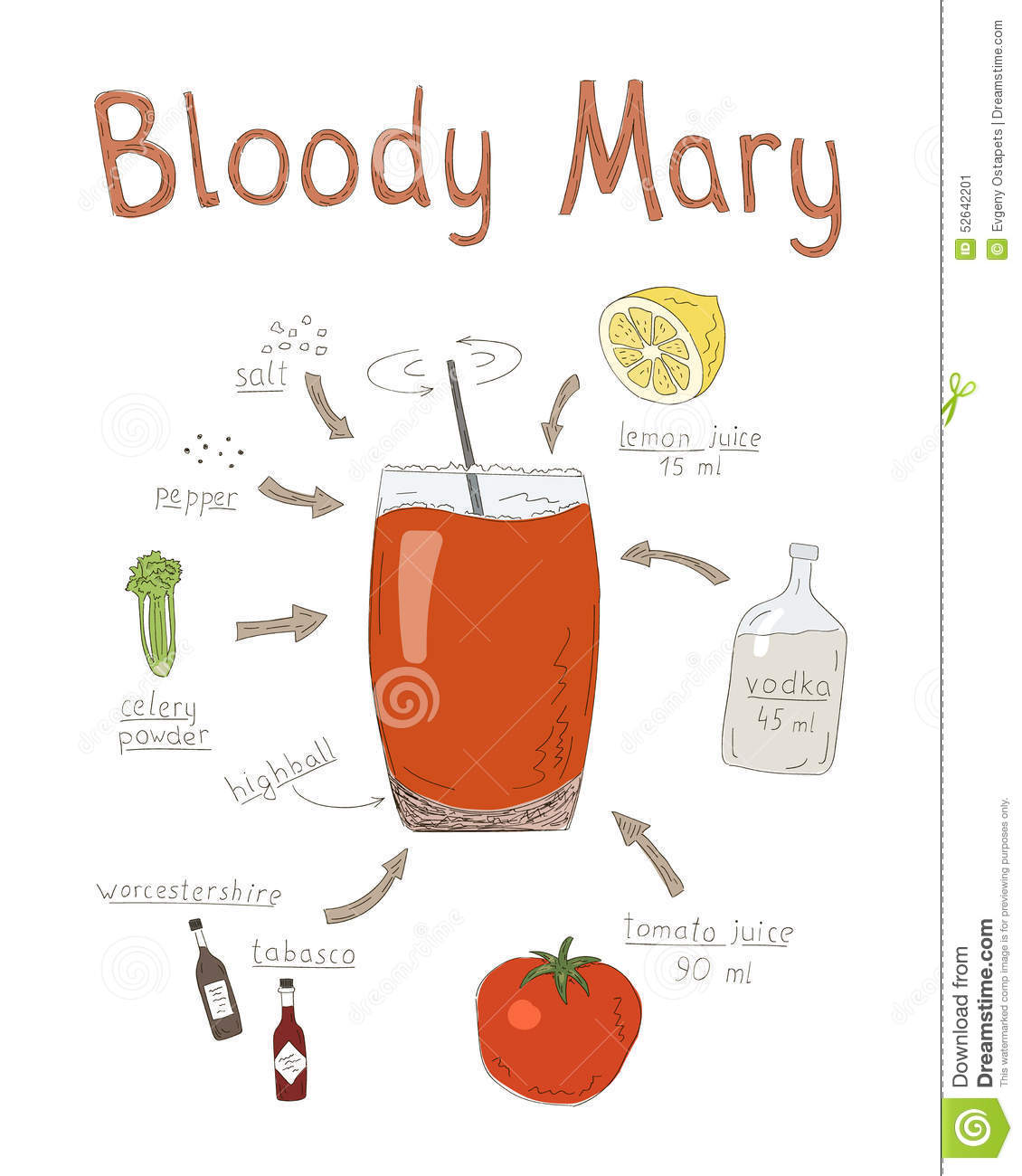 bloody mary drink clipart - photo #21