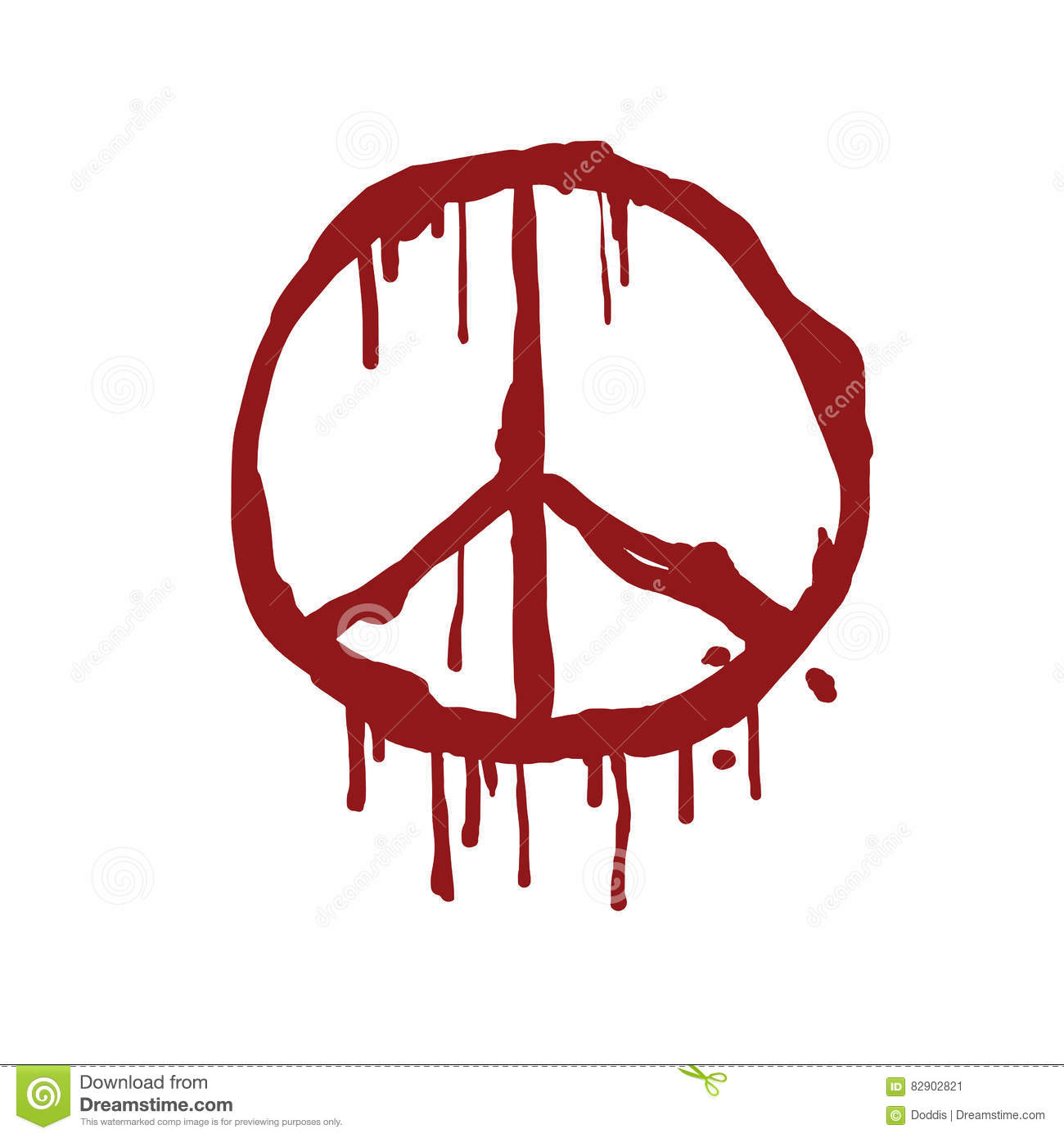 Bloody peace sign vector illustration stock vector illustration bloody peace sign vector illustration biocorpaavc