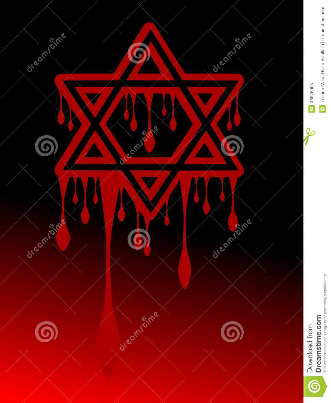 Bloody star of king david on red and black background illustration bloody star of king david on red and black background biocorpaavc Choice Image
