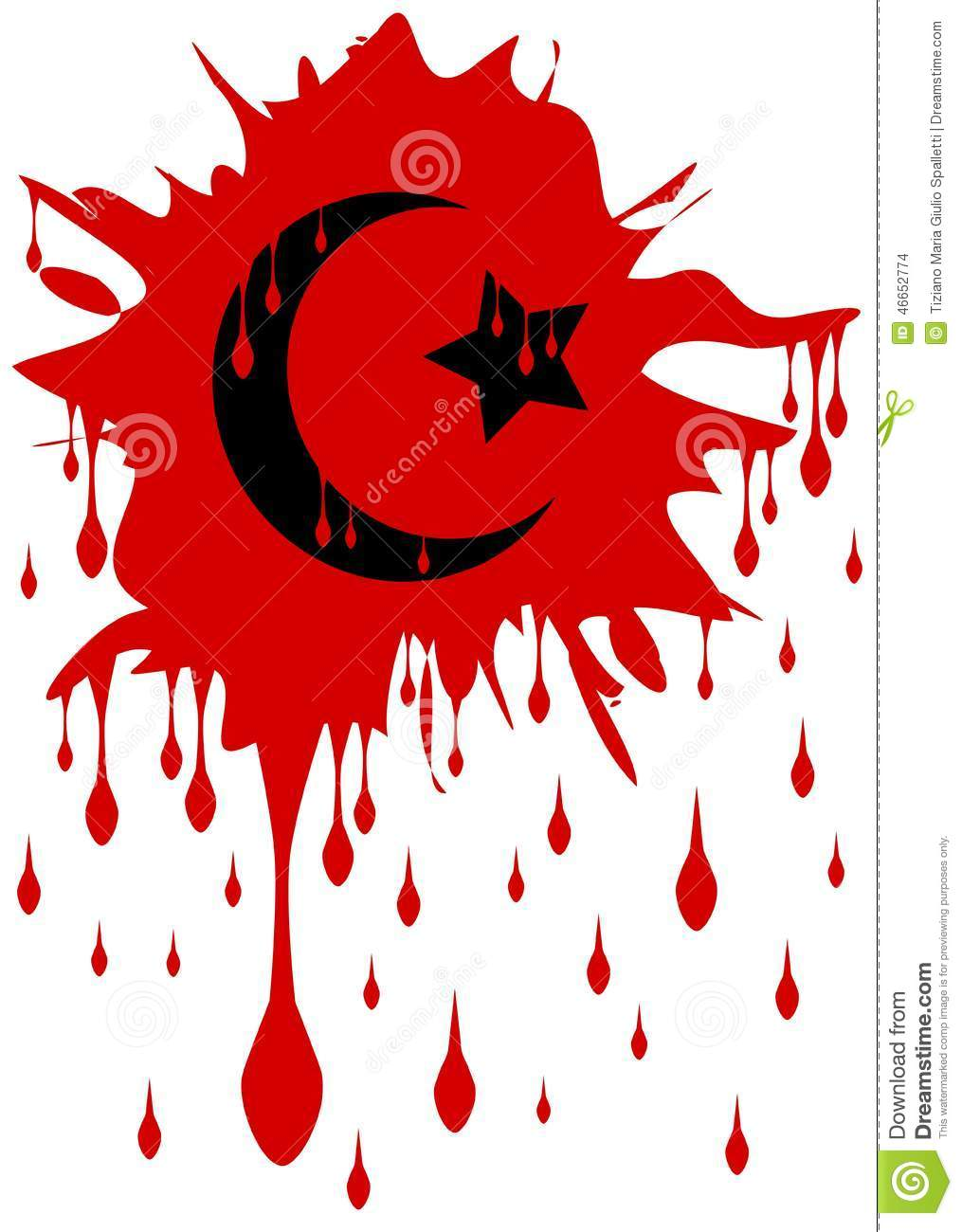 Bloody symbol of islam isolated stock vector illustration of bloody symbol of islam isolated buycottarizona Gallery